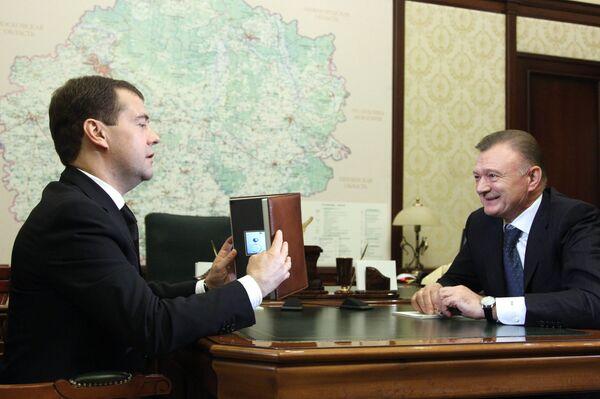 Встреча Дмитрия Медведева с Олегом Ковалевым