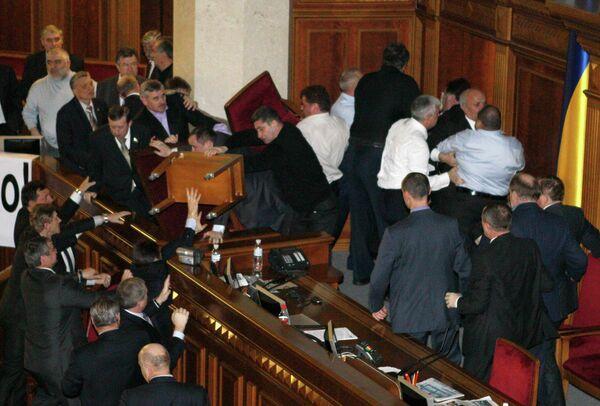 Драка в Верховной Раде 16 декабря 2010 г