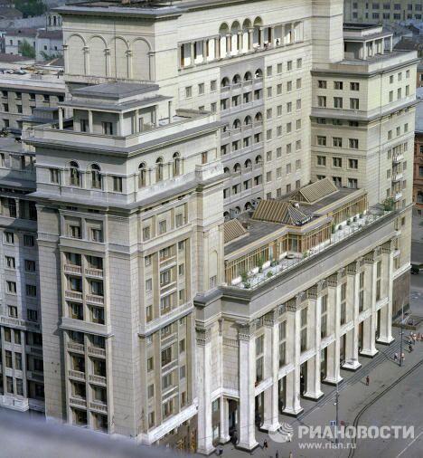 Вид на здание гостиницы Москва