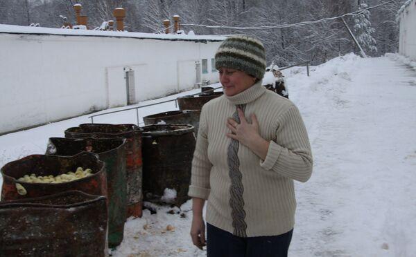 Уничтожение цыплят на птицефабрике Красная поляна в Железногорском районе Курской области
