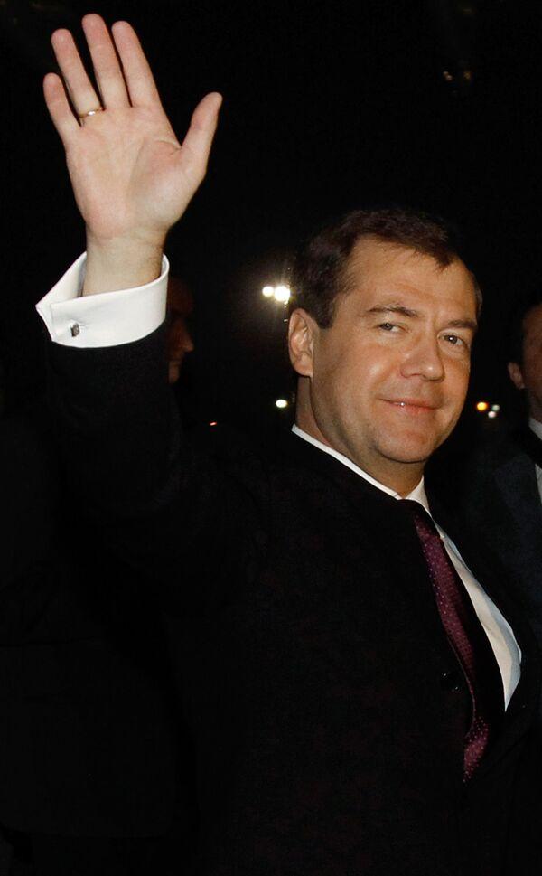 Президент России Дмитрий Медведев в Индии.  21 декабря 2010 года
