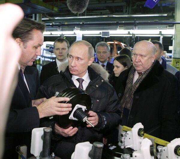 Рабочая поездка премьер-министра РФ Владимир Путина в Нижний Новгород