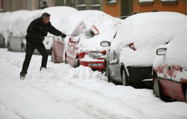 Снегопады в Европе