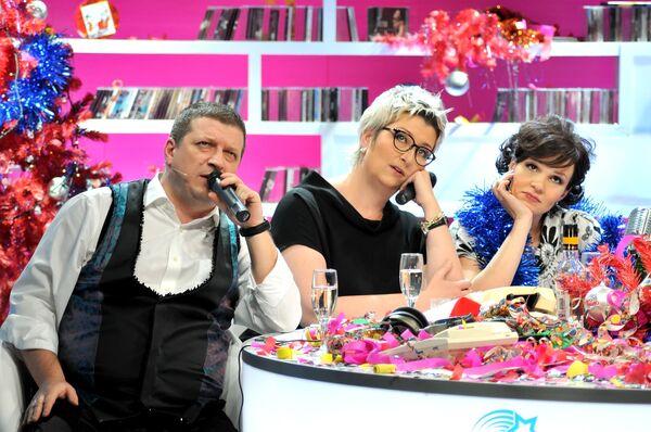 Съемки новогоднего шоу на телеканале ТВ3