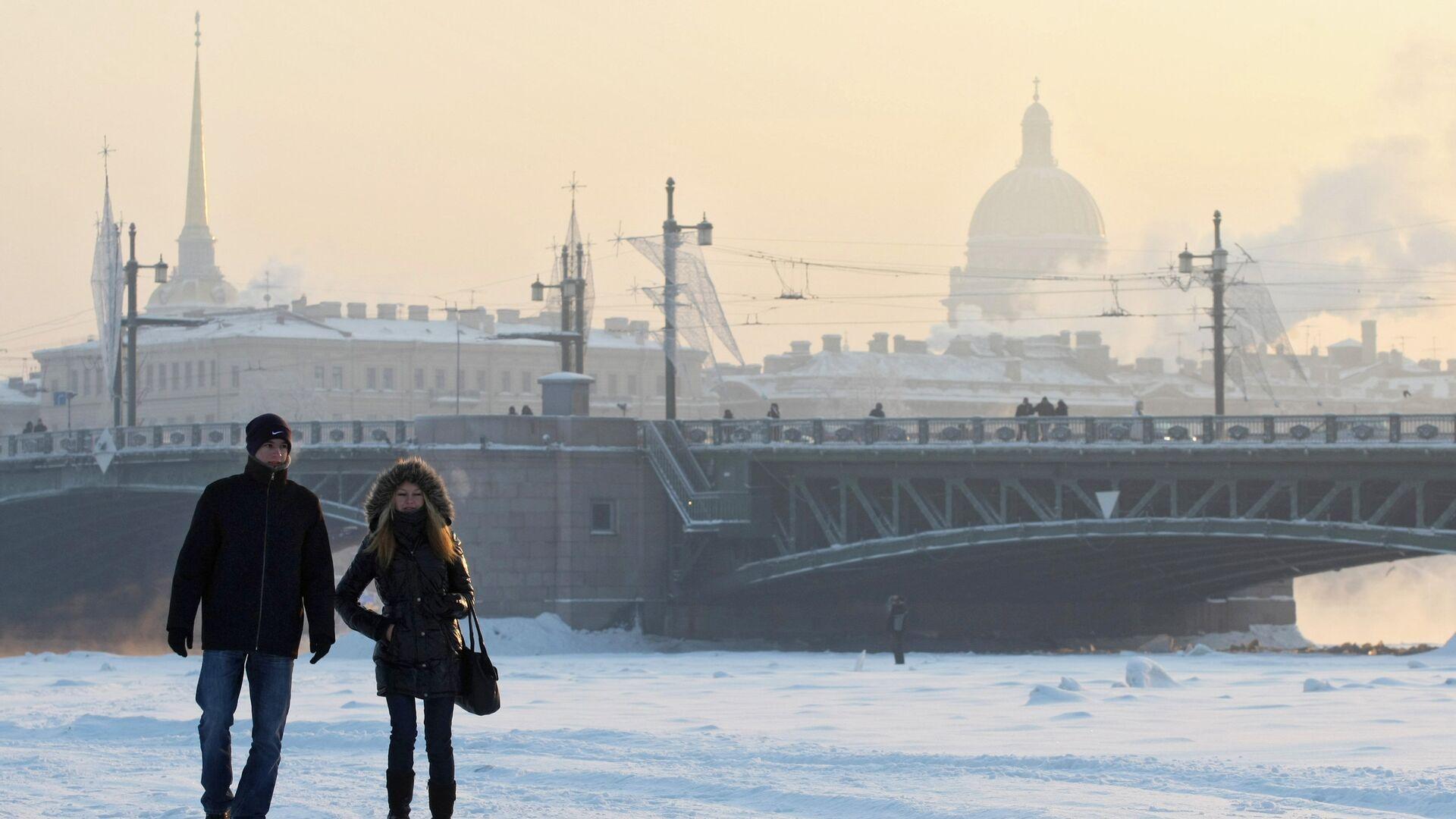 Сильные морозы в Санкт-Петербурге - РИА Новости, 1920, 19.02.2021