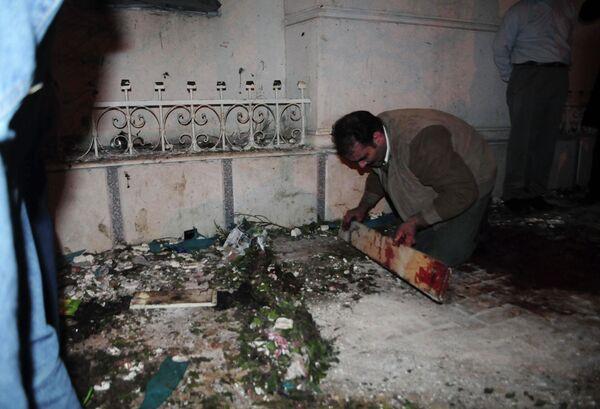 Взрыв близ одной из церквей в египетском городе Александрия