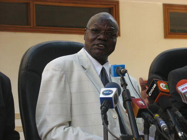 Председатель бюро по проведению референдума на юге Судана Чан Рик Мадут