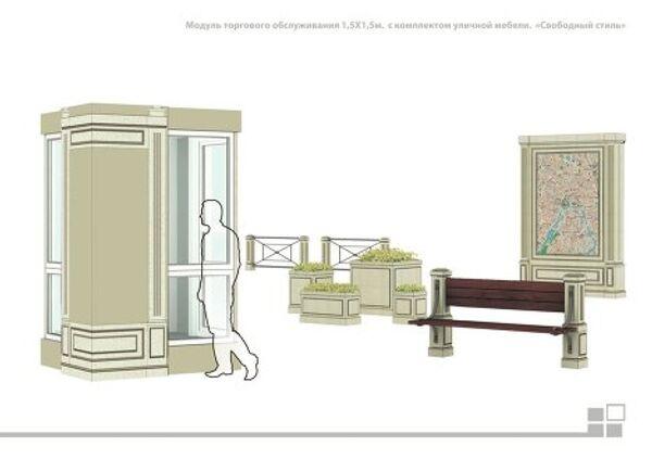 Типовой проект торговых палаток в Москве