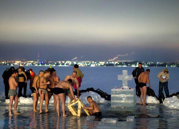 Крещенские купания на Валдае