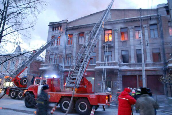 Пожар в здании театра имени Пушкина в Красноярске