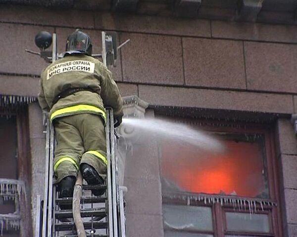Пожар в театре имени Пушкина в Красноярске. Видео с места ЧП