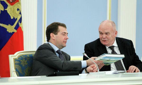 Президент РФ Д.Медведев провел встречу с членами Общественной палаты
