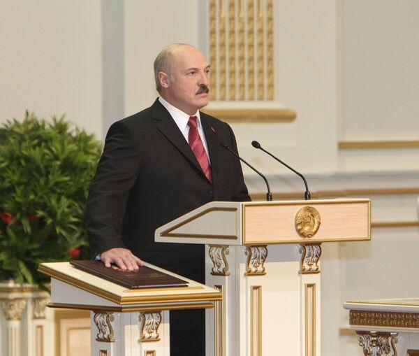 Инаугурация вновь избранного президента Белоруссии Александра Лукашенко