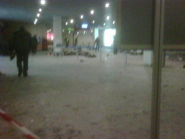 Ситуация в аэропорту Домодедово после теракта. Архив