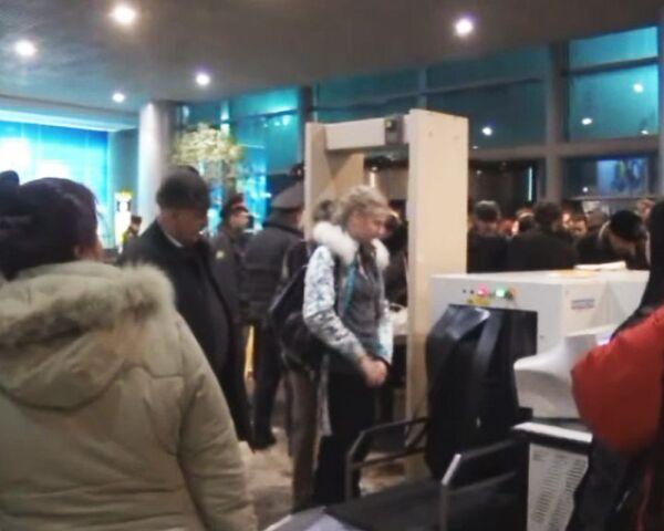Аэропорт Домодедово в первые часы после теракта