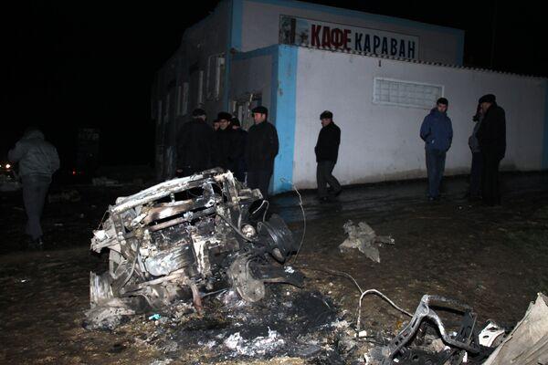 Взрыв у кафе в дагестанском городе Хасавюрт