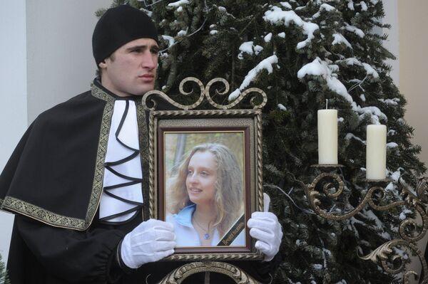 Похороны жертв теракта в Домодедово