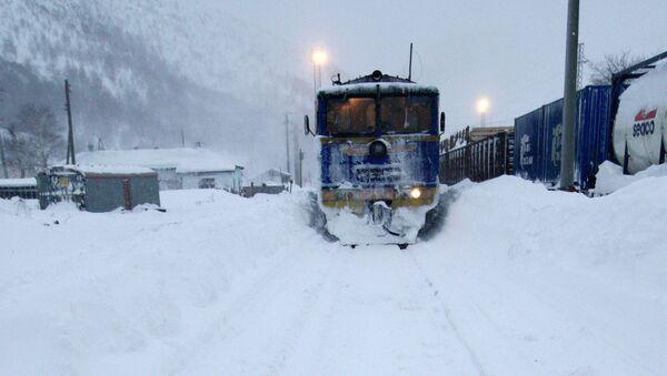 Железная дорога зимой. Архивное фото