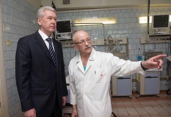 Мэр Москвы Сергей Собянин посетил Боткинскую больницу