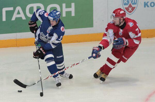 Игровой момент Матча звезд КХЛ