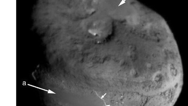 Ядро кометы Темпель 1 на снимке с борта зонда Deep Impact