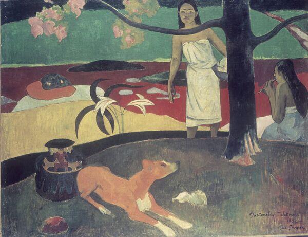 Картина Поля Гогена Таитянские пасторали