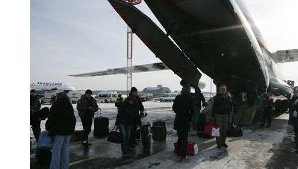 Эвакуация российских граждан из Ливии самолетом МЧС