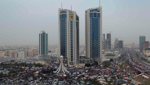Демонстрация в центре столицы Бахрейна