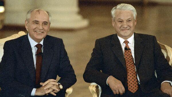 Горбачев и Ельцин. Архивное фото