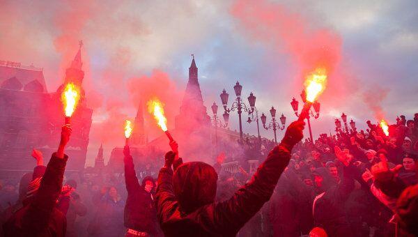 Акция на Манежной площади в память об убитом Егоре Свиридове. Архивное фото
