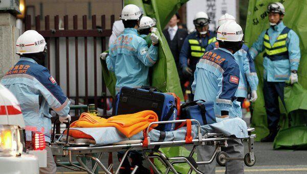 Пострадавшие в результате землетрясения в Токио