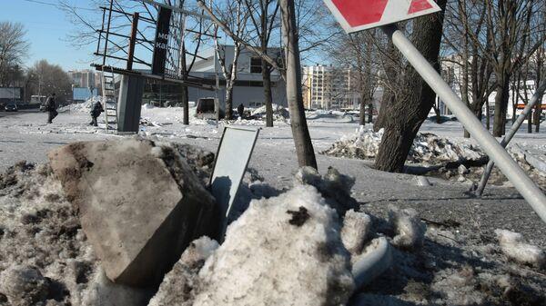 Место, где в ДТП погибла супруга Вячеслава Малафеева Марина