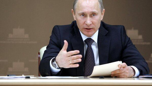 Премьер-министр РФ Владимир Путин провел селекторное совещание в ситуационном центре Дома правительства РФ