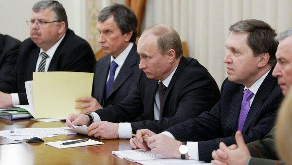 Встреча Владимира Путина с Алмазбеком Атамбаевым в Ново-Огарево