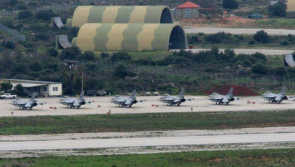 Норвежские истребители F-16 на базе НАТО на острове Крит