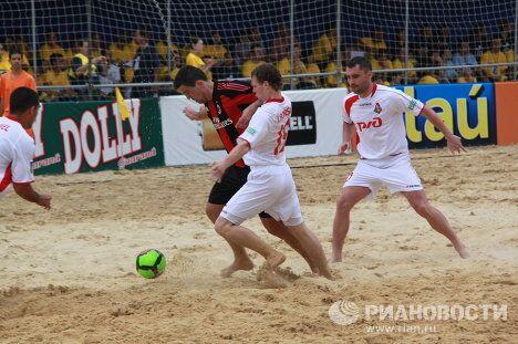 Игровой момент матча Локомотив - Милан
