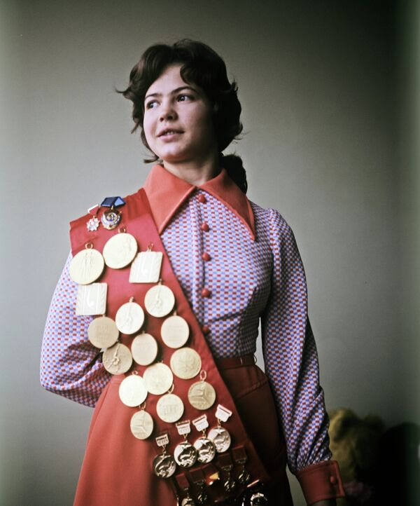 Гимнастка Людмила Турищева