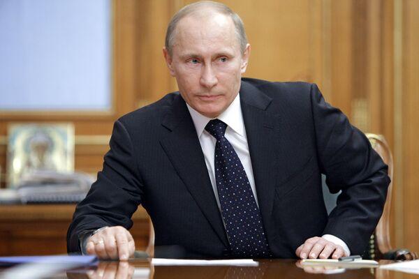 Встреча премьер-министра РФ Владимира Путина с руководством партии Единая Россия