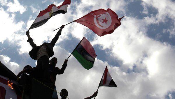 Акция протеста на площади Тахрир в Каире 8 апреля 2011 года