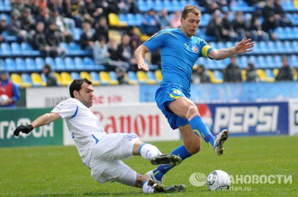 Игровой момент матча Ростов - Волга