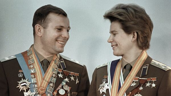 Летчики-космонавты СССР, Герои Советского Союза Юрий Гагарин и Валентина Терешкова
