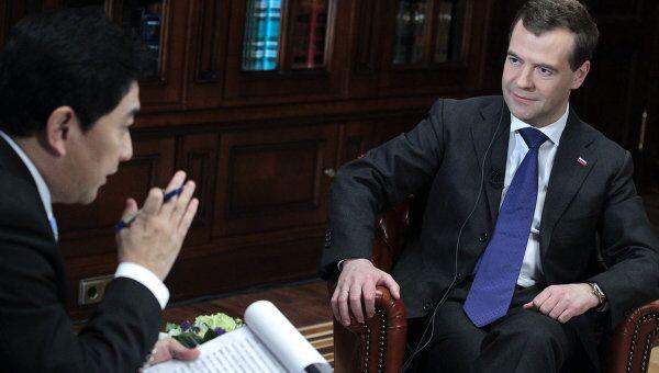 Интервью Дмитрия Медведева центральному телевидению Китая