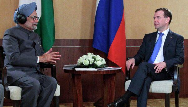 Президент РФ Д.Медведев встретился с премьер-министром Индии М.Сингхом