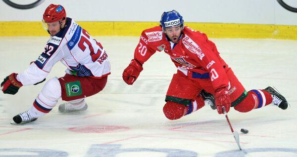Игровой момент матча Чехия – Россия