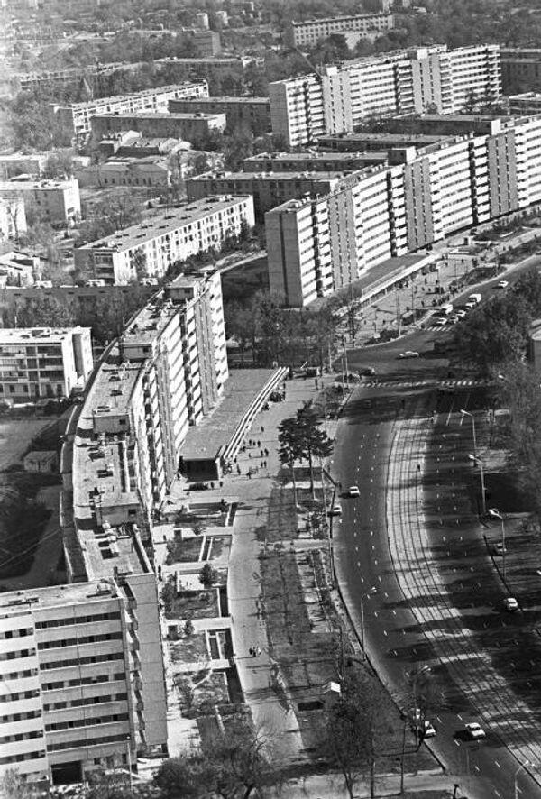 Жилые дома, построенные москвичами после землетрясения 1966 года в Ташкенте