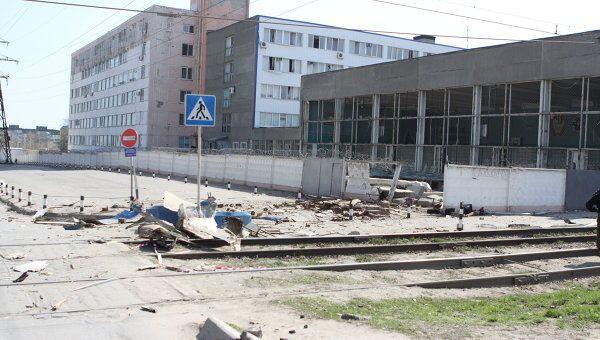 Академия МВД в Волгограде после взрыва