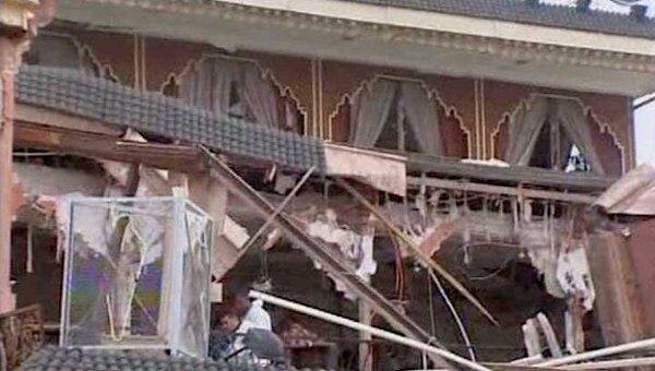Видео с места взрыва в марокканском кафе, где пострадали россияне
