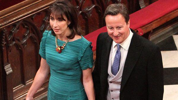 Премьер Великобритании Дэвид Камерон и его супруга Саманта