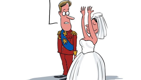 Уильям и Кэтрин после свадьбы