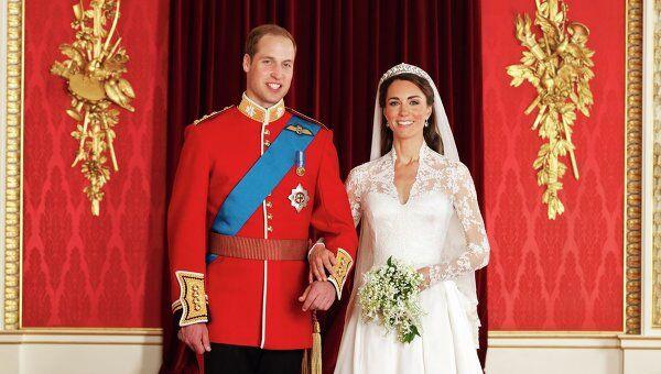 Официальная свадебная фотография принца Уильяма и Кэтрин Миддлтон